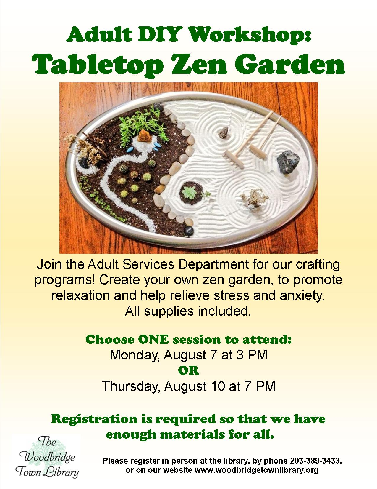 zengarden this is the page for the afternoon session on monday august 7 our evening session has been cancelled - Diy Zen Garden